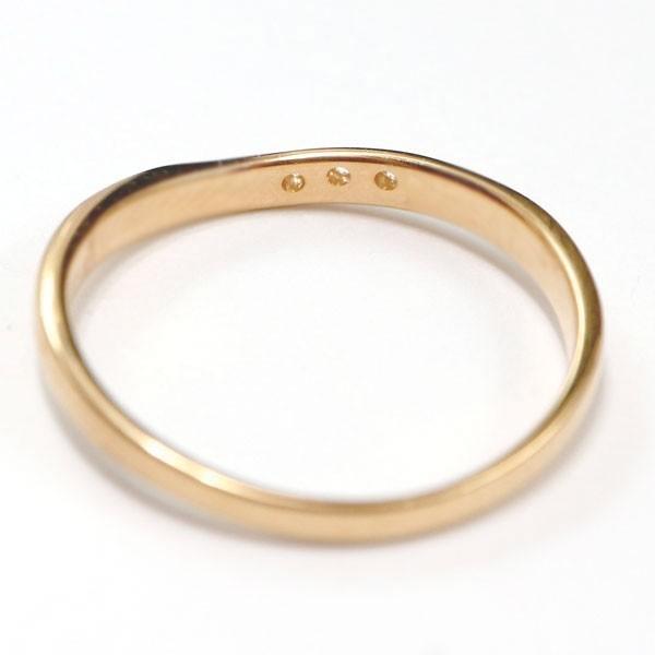 結婚指輪 安い ダイヤモンド ゴールド ペアリング 2本セット 18金 マリッジリング 地金 ピンクゴールドk18 18k シンプル ピンク 送料無料_画像5