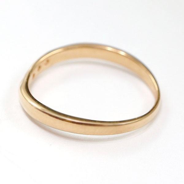 結婚指輪 安い ダイヤモンド ゴールド ペアリング 2本セット 18金 マリッジリング 地金 ピンクゴールドk18 18k シンプル ピンク 送料無料_画像4