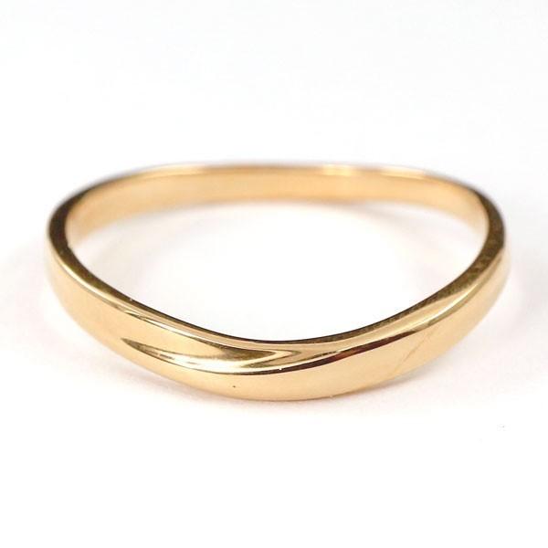 結婚指輪 安い ダイヤモンド ゴールド ペアリング 2本セット 18金 マリッジリング 地金 ピンクゴールドk18 18k シンプル ピンク 送料無料_画像3