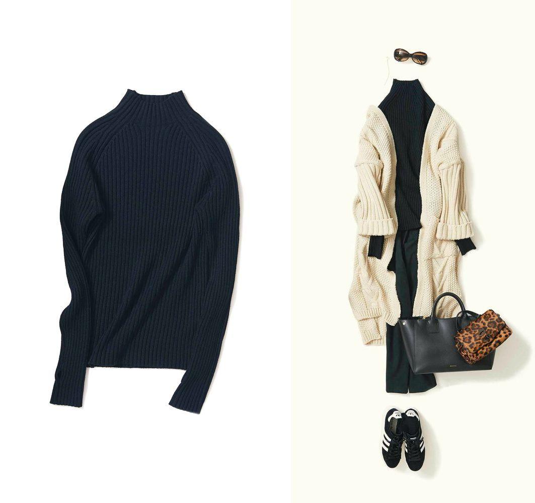 K.K Shop 購入 Sonni d'oro Mock Neck Rib Knit モックネックリブニット K.K closet