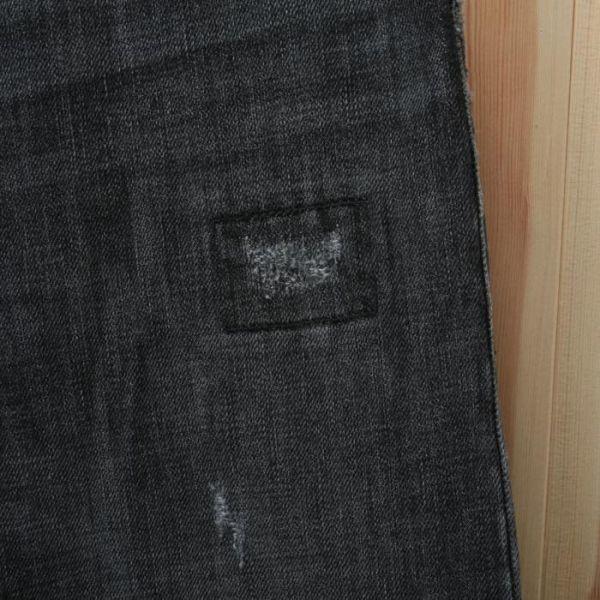 【美品】バーバリー ブリット BURBERRY BRIT ストレート ウォッシュド加工 デニム パンツ 32W34L ブラック メンズ br07003919_画像7
