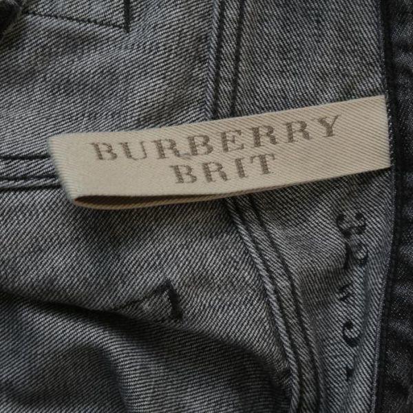 【美品】バーバリー ブリット BURBERRY BRIT ストレート ウォッシュド加工 デニム パンツ 32W34L ブラック メンズ br07003919_画像8