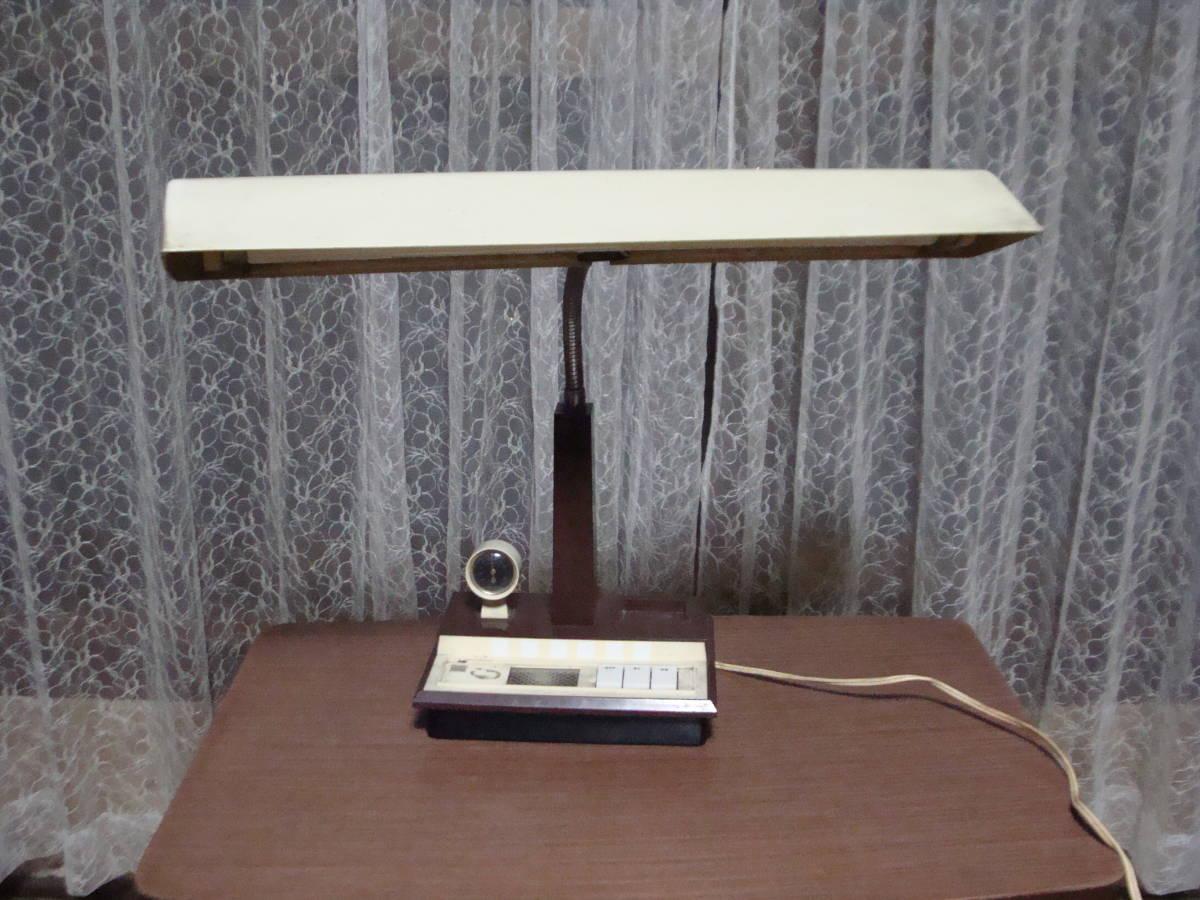 レトロな卓上ライト スモールライト 温度計付き 照明ランプスタンドインテリア古道具タグボート昭和_画像1