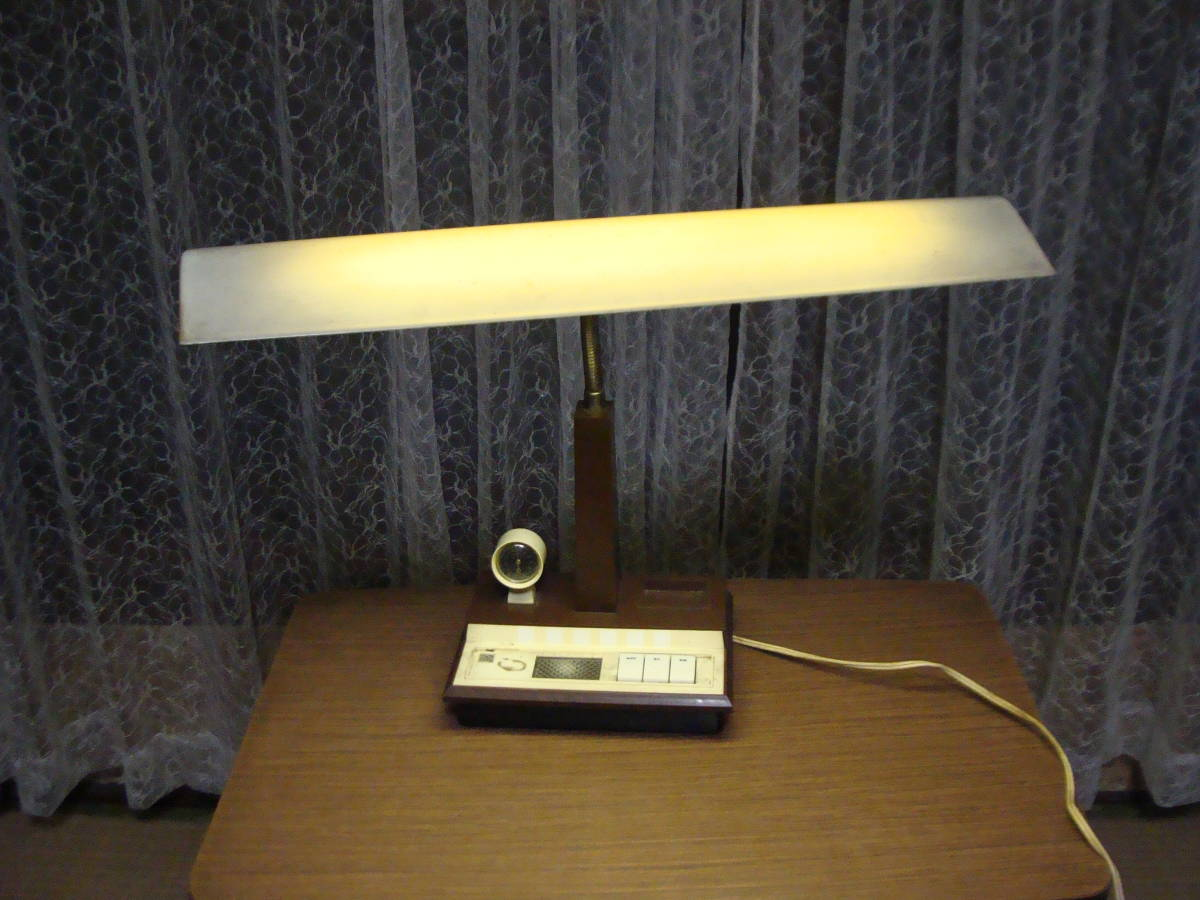 レトロな卓上ライト スモールライト 温度計付き 照明ランプスタンドインテリア古道具タグボート昭和_画像2