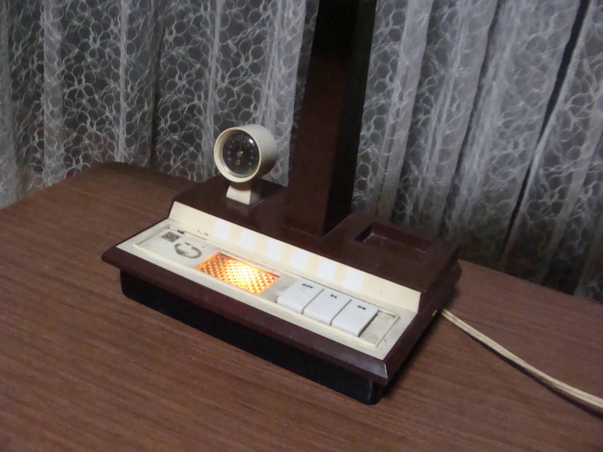 レトロな卓上ライト スモールライト 温度計付き 照明ランプスタンドインテリア古道具タグボート昭和_画像3
