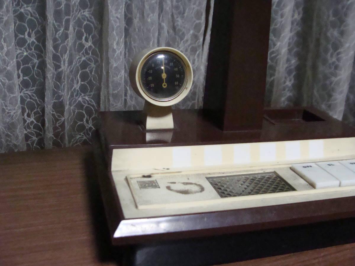 レトロな卓上ライト スモールライト 温度計付き 照明ランプスタンドインテリア古道具タグボート昭和_画像4