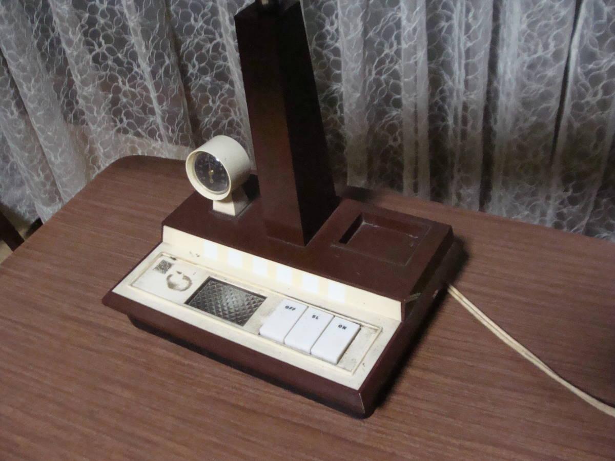 レトロな卓上ライト スモールライト 温度計付き 照明ランプスタンドインテリア古道具タグボート昭和_画像5