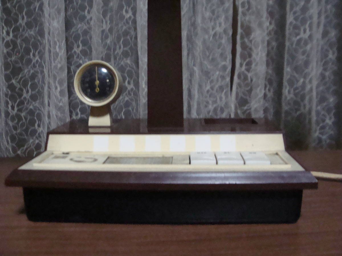 レトロな卓上ライト スモールライト 温度計付き 照明ランプスタンドインテリア古道具タグボート昭和_画像6