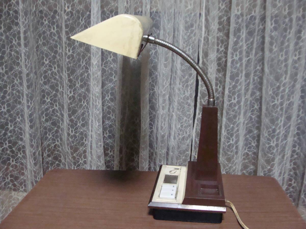 レトロな卓上ライト スモールライト 温度計付き 照明ランプスタンドインテリア古道具タグボート昭和_画像7