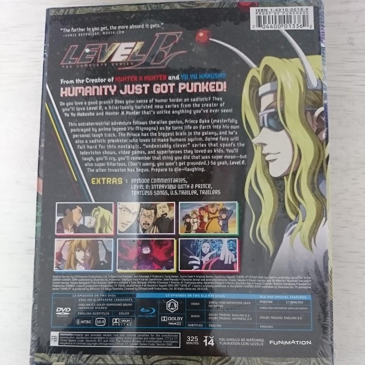 新品 北米版Blu-ray DVD【レベルE】【LEVEL E】全13話