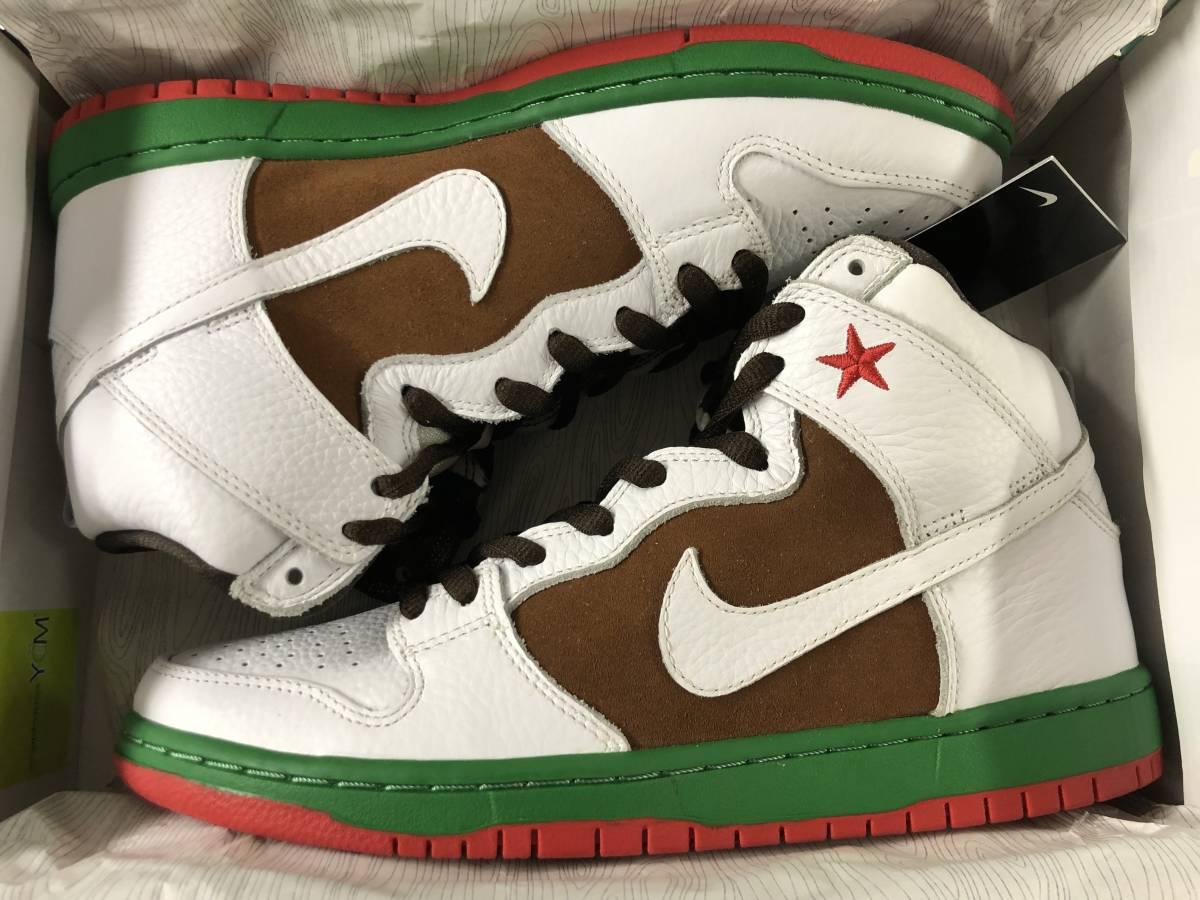 Nike Dunk High Premium SB California 27.5cm 新品未使用デッドストック カリフォルニア US9.5 国内正規品明細書付 2014年