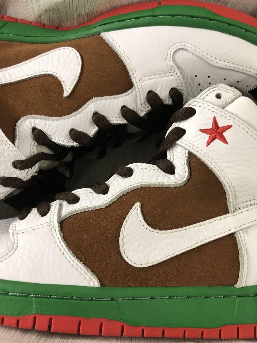 Nike Dunk High Premium SB California 27.5cm 新品未使用デッドストック カリフォルニア US9.5 国内正規品明細書付 2014年_画像3