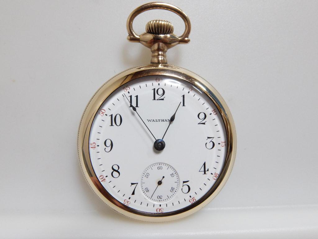 ウォルサム No.81 18s 15石 1916年 Model1883 20年保証金張りケース 分解清掃済み 精度良 綺麗です