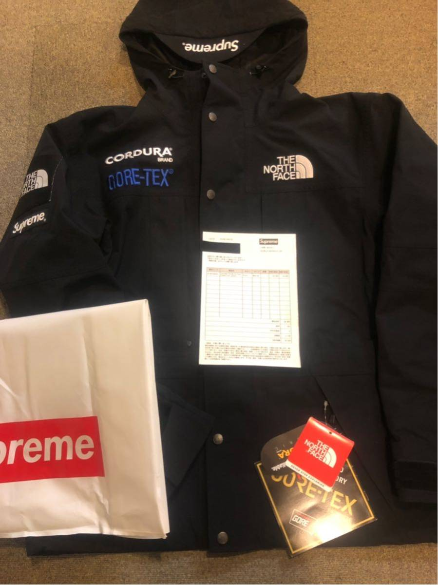 18aw Supreme The North Face Expedition Jacket GORE-TEX Black Mサイズ 公式オンライン購入 国内正規品 納品書原本付き 野口強着用