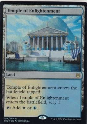 【FOIL】啓蒙の神殿/Temple of Enlightenment 1枚【英語版】■MTG テーロス還魂記_画像1