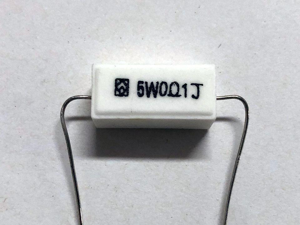 セメント抵抗 5W 0Ω1J バラ売り 管理番号[F2-B0086]_画像1