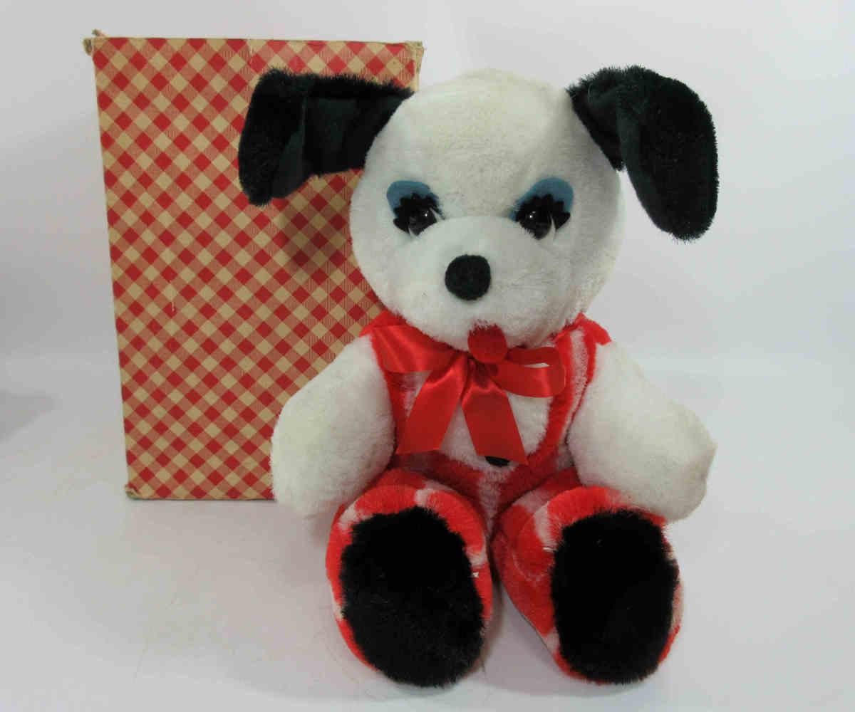 ★knickerbocker ヴィンテージ ニッカーボッカー社 犬 イヌ ぬいぐるみ 人形 f84