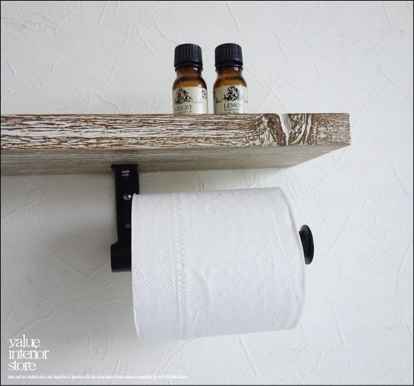オールドチークトイレットペーパーホルダーWWW 天然木 無垢 シャビー トイレ用品 木製 古材 アイアンフレーム 手作り ハンドメイド V_S_画像3