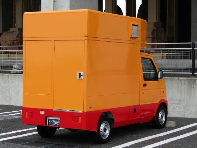 「即決!キャリイ 移動販売車 エアコン パワステ シンク フライヤー 換気扇 LEDルームライト 給排水タンク 外部電源」の画像2
