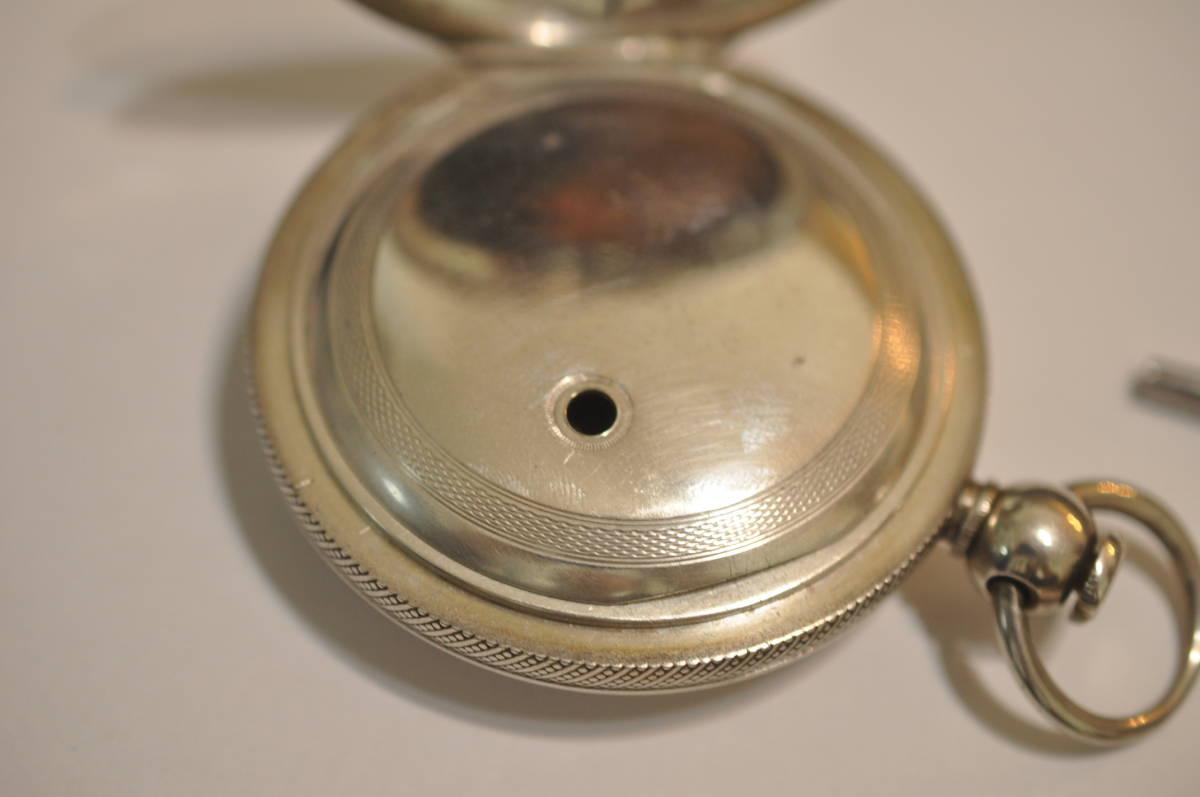 【希少品】オールドハワード シリーズ1 Ⅰ 懐中時計 アンティーク 鍵巻き シリアルナンバー3桁 銀無垢ハンターケース 1850年_画像6