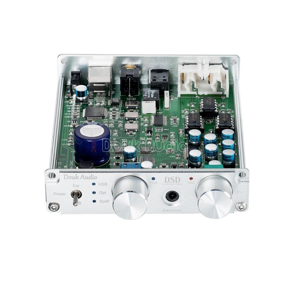 2018最新のDoukオーディオXMOSのUSB DACオーディオデコーダDSD1796ハイファイヘッドフォンアンプCOAX / OPT PCM384K / DSD256 SPDIF_画像1