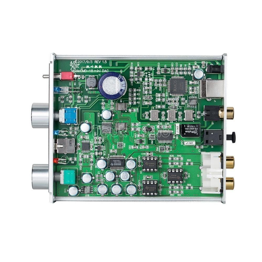 2018最新のDoukオーディオXMOSのUSB DACオーディオデコーダDSD1796ハイファイヘッドフォンアンプCOAX / OPT PCM384K / DSD256 SPDIF_画像2