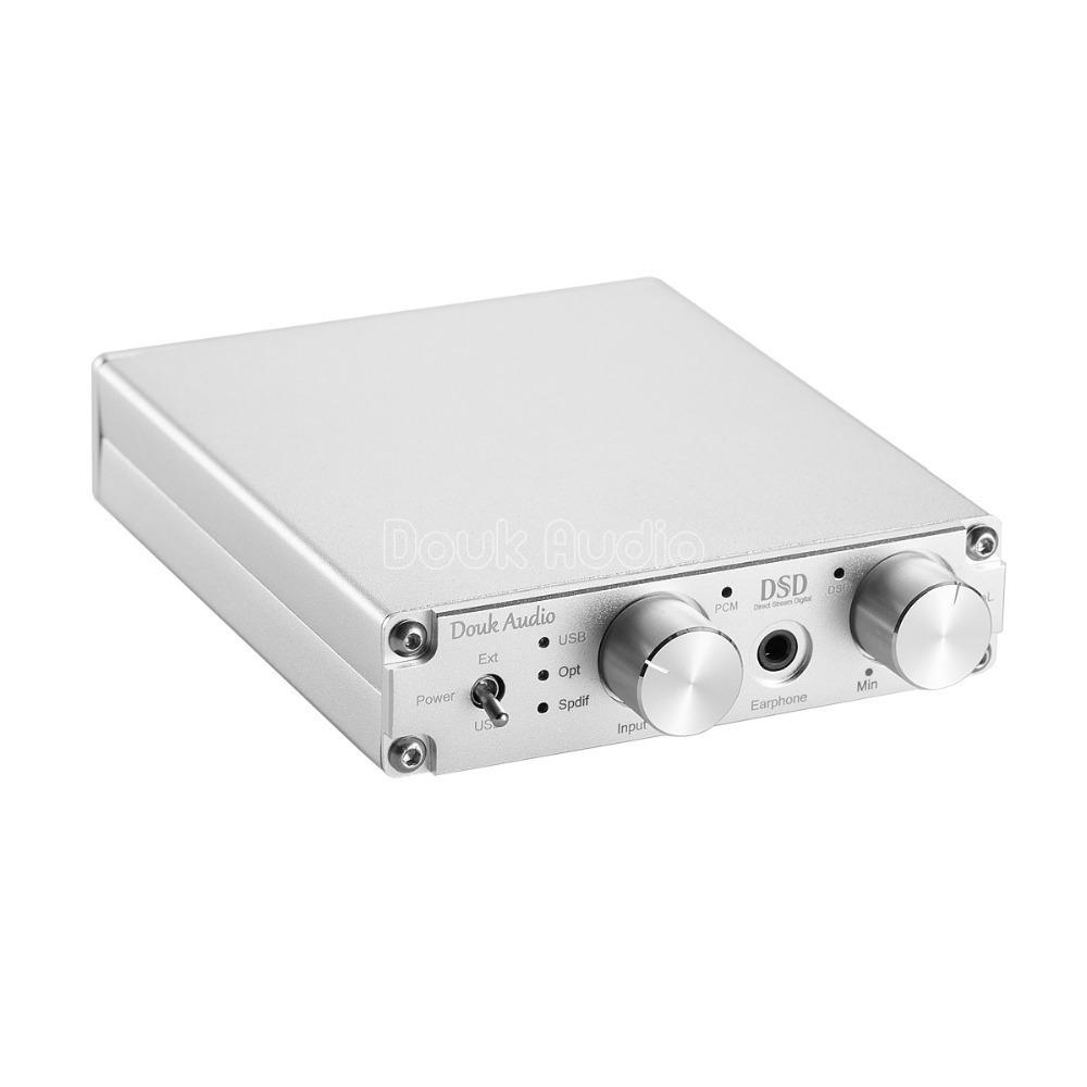 2018最新のDoukオーディオXMOSのUSB DACオーディオデコーダDSD1796ハイファイヘッドフォンアンプCOAX / OPT PCM384K / DSD256 SPDIF_画像3