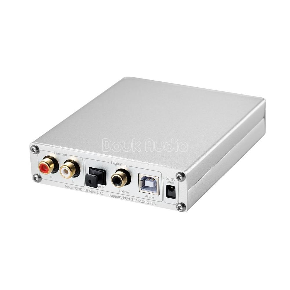 2018最新のDoukオーディオXMOSのUSB DACオーディオデコーダDSD1796ハイファイヘッドフォンアンプCOAX / OPT PCM384K / DSD256 SPDIF_画像4