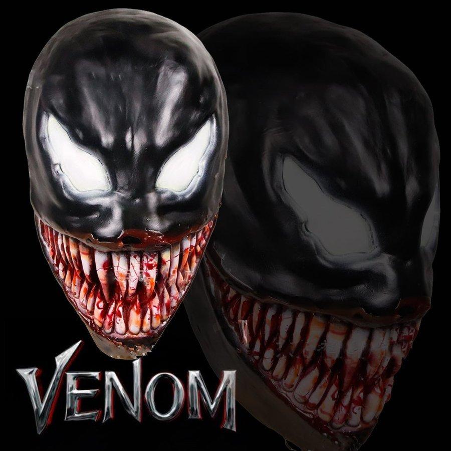 送料無料 Venom ヴェノム マスク かぶりもの お面 コスプレ コスチューム 仮面 パーティー ハロウィン _画像1