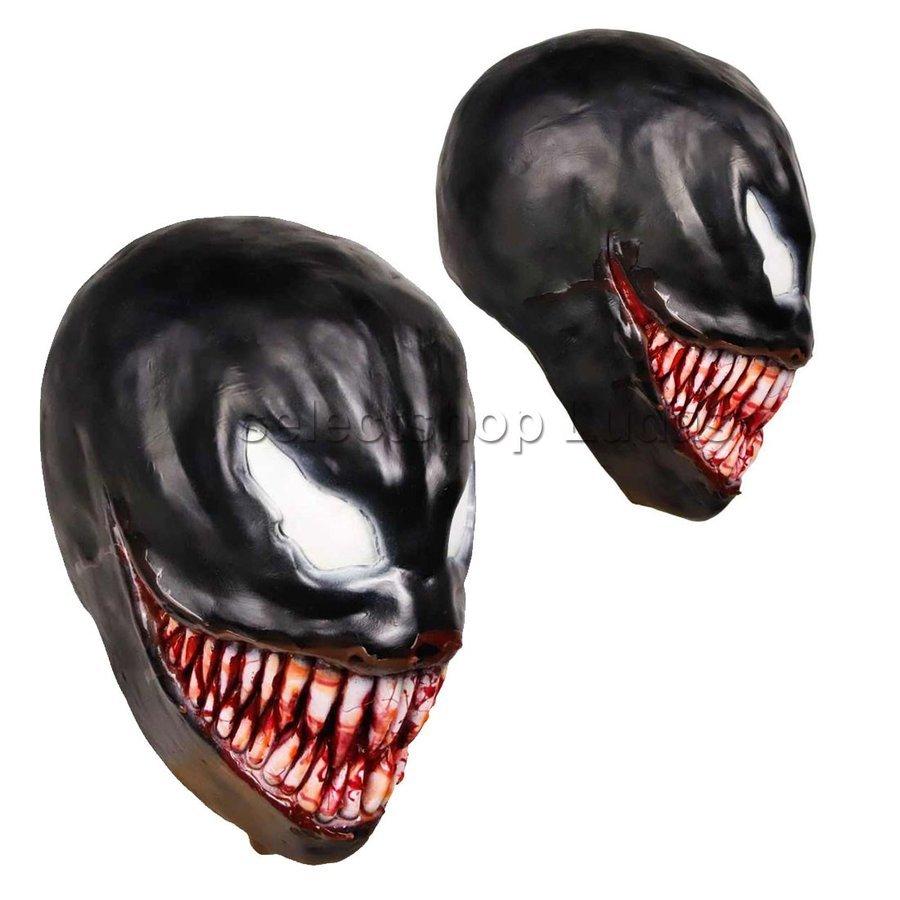 送料無料 Venom ヴェノム マスク かぶりもの お面 コスプレ コスチューム 仮面 パーティー ハロウィン _画像3
