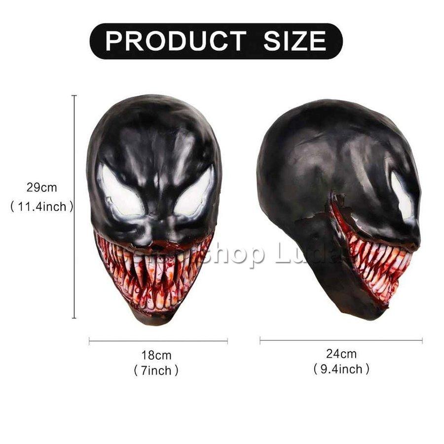 送料無料 Venom ヴェノム マスク かぶりもの お面 コスプレ コスチューム 仮面 パーティー ハロウィン _画像2