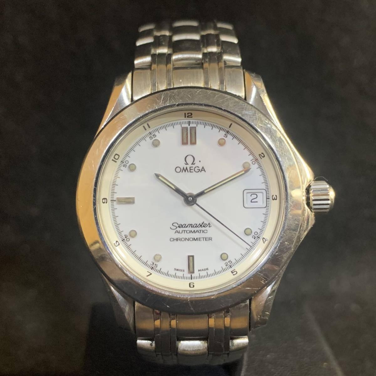 1円~ 【稼働品】OMEGA SEAMASTER オメガ シーマスター 168.1501 Cal.1109 自動巻き クロノメーター メンズ腕時計