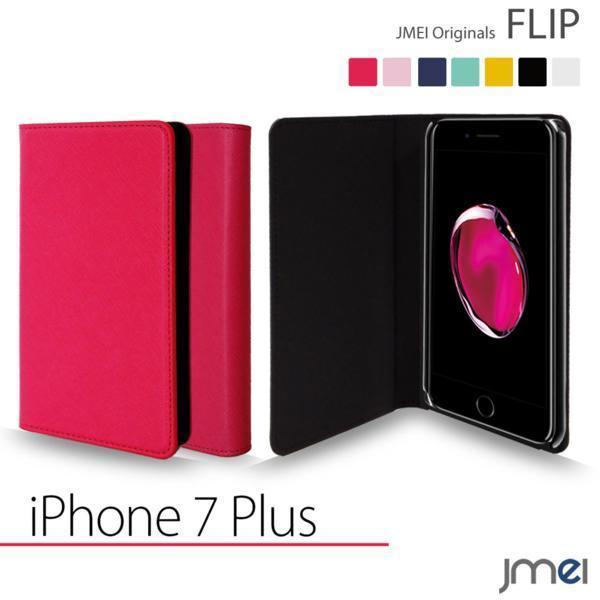 iPhone 7 Plus 7 プラス apple JMEI フリップケース Hピンク F_画像1
