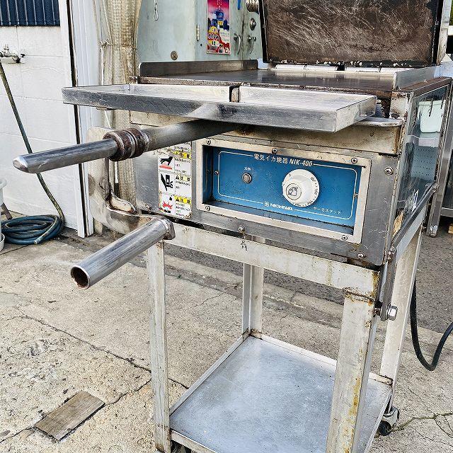 【中古】 イカ焼き器 いか焼 ニチワ NIK-400 タコせんべい 鉄板 業務用 プレス焼き 200v 〔00605〕 _画像2