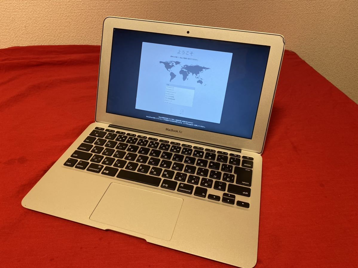 MacBook Air 11 A1465 i5 Mid 2013/SSD128GB/メモリ4GB/Mac OS 10.14