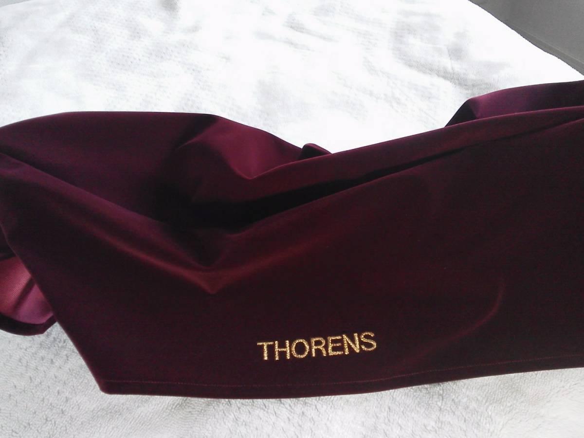 THORENS TD520専用 高級オーディオカバー ベルベット・スエード製 オーダーメイド仕様_ご希望の文字を刺繍可能