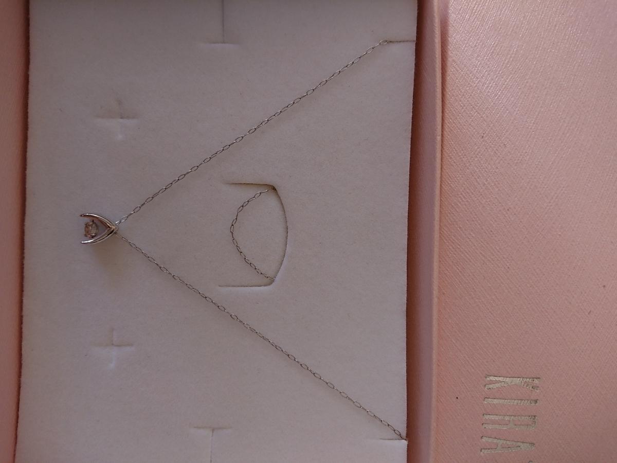 プラチナ PT850 ダイヤモンドネックレス ダンシング 0.1カラット_画像3