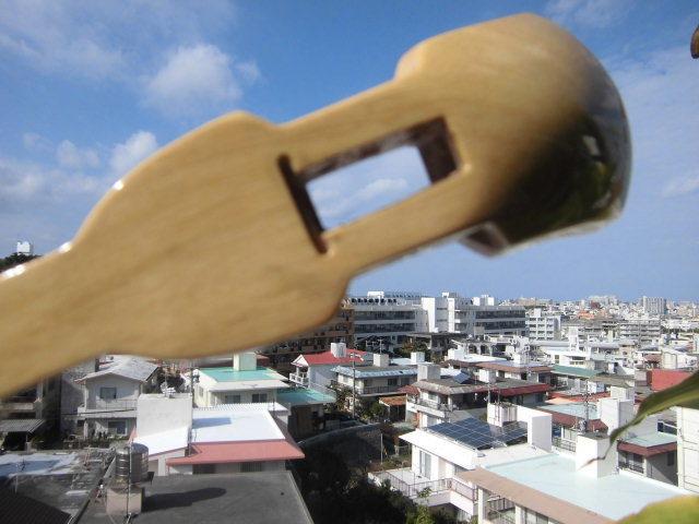 (送料無料)21.000円 沖縄三線専用 透明塗棹、蛇皮強化(二重張)型チーガ、カラクイセット_画像5