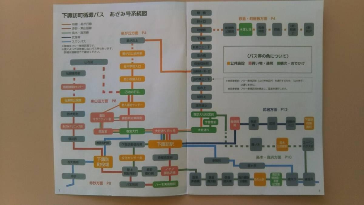 下諏訪町循環バス あざみ号 時刻表・路線図 平成31年4月1日現在_画像2