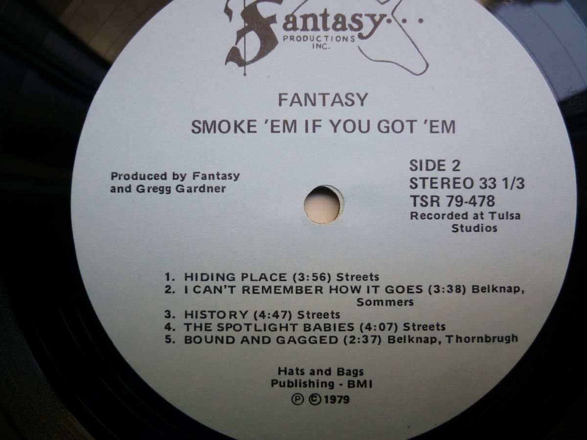 激レア【視聴】Fantasy『Smoke 'Em If You Got 'EM』LP AOR Free Soul Soft Rock_画像3