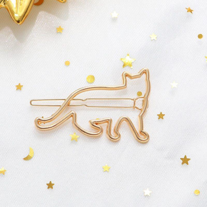 ヘアピン 猫 ネコ シルバー ゴールド 女 女の子 ヘアクリップ ヘアアクセサリー ヘアアクセ スチームパンク ガーリー_画像7