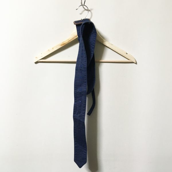 #UNITED ARROWS|ユナイテッドアローズ スリムフィットコットントレンチコート ネイビー 古着品 sizeS