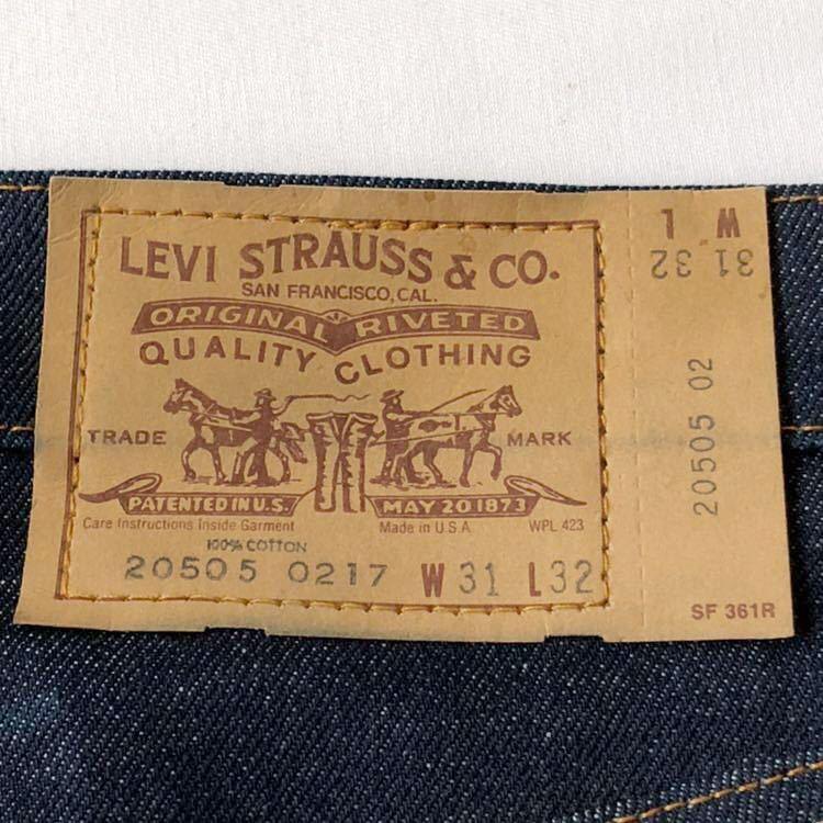 デッドストック! 80s Levi's 505 デニムパンツ W31 USA製 ビンテージ 80年代 リーバイス ジーンズ ジーパン 米国製 米国製 オリジナル_画像4