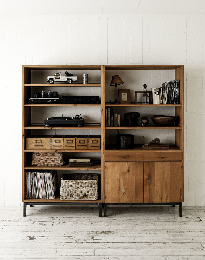 TRUCK furnitureトラックファニチャー FM SHELF OPENタイプ Naturalカラー 飾り棚 食器棚 本棚_画像4