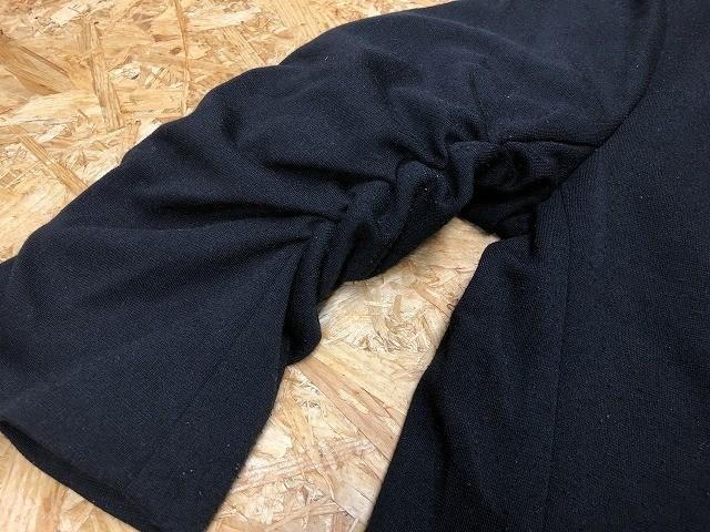 semantic design セマンティックデザイン L メンズ(レディース?) テーラードジャケット S/S 半端袖 ストレッチ センターベント ブラック_画像5