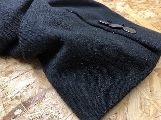 semantic design セマンティックデザイン L メンズ(レディース?) テーラードジャケット S/S 半端袖 ストレッチ センターベント ブラック_画像6