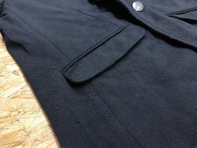 semantic design セマンティックデザイン L メンズ(レディース?) テーラードジャケット S/S 半端袖 ストレッチ センターベント ブラック_画像3