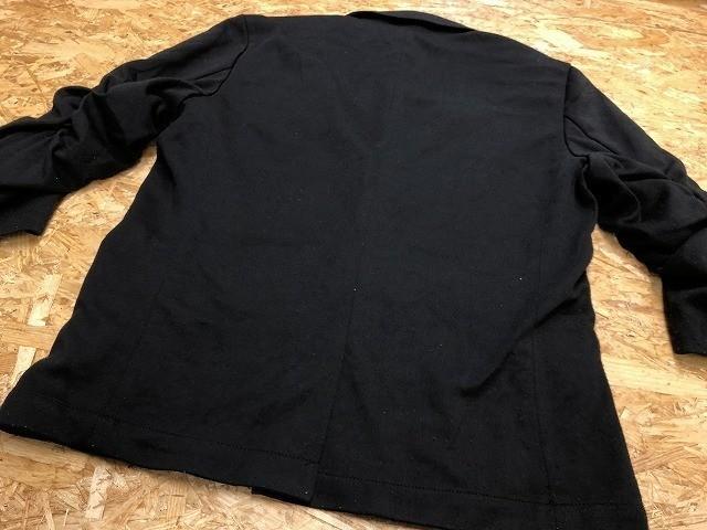 semantic design セマンティックデザイン L メンズ(レディース?) テーラードジャケット S/S 半端袖 ストレッチ センターベント ブラック_画像8