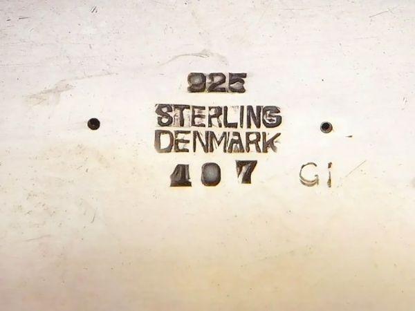 廃盤 アンティーク 1930年代初頭 Georg Jensen 植物 美しい曲線 ジョージジェンセン 植物 ブローチ #107 デンマーク製 /12723_画像6