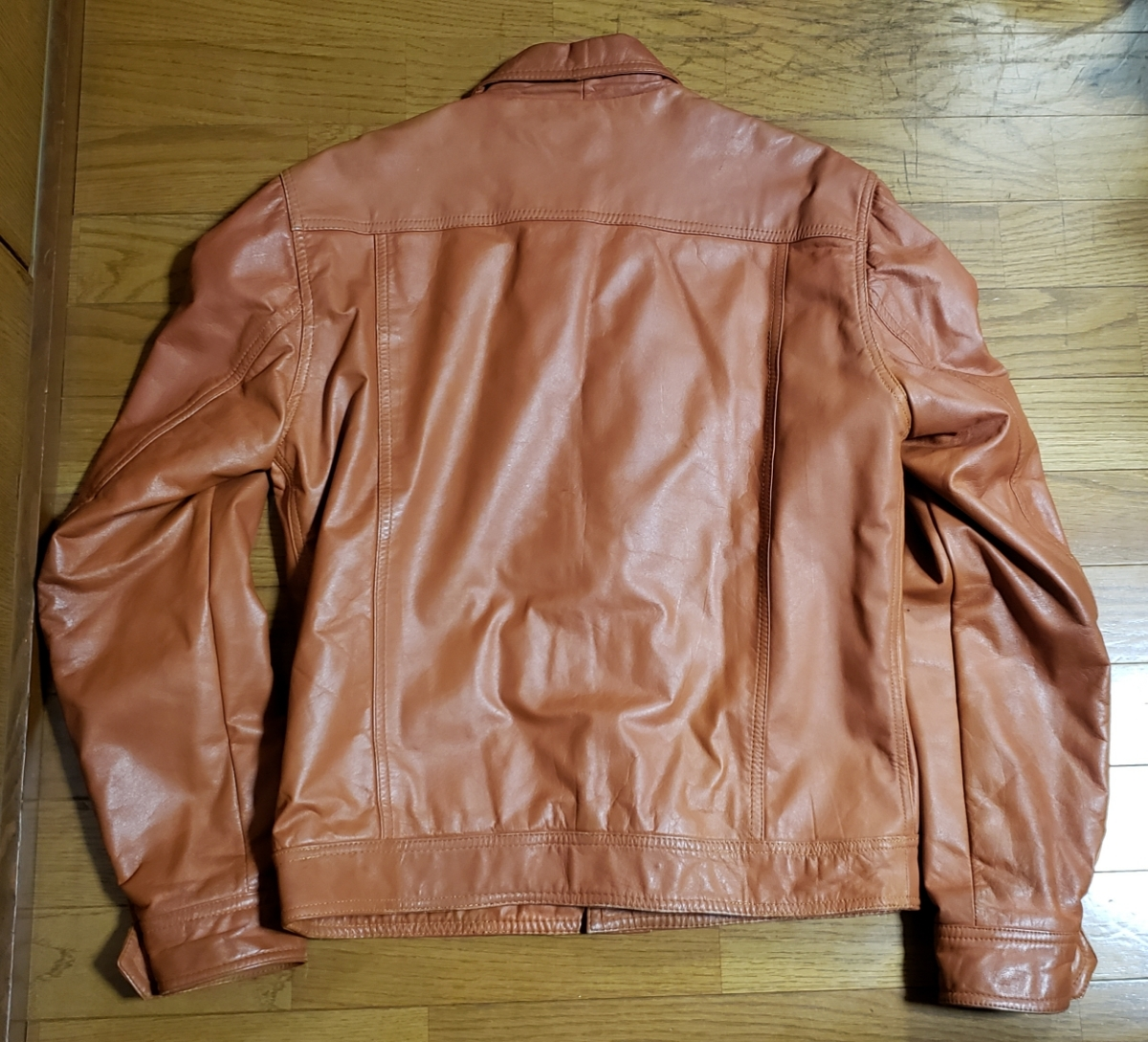 70年代 LEE レザージャケット ストームライダー タイプ / ビンテージ リー 70s オリジナル 革ジャン レア_画像2